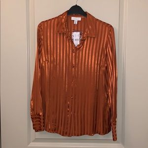 Rust TOPSHOP BLOUSE